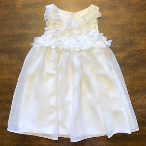 Pure White Dress with Floating Hearts on Bodice!